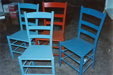 Blue Chairs Before