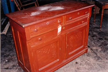 Red Dresser Before